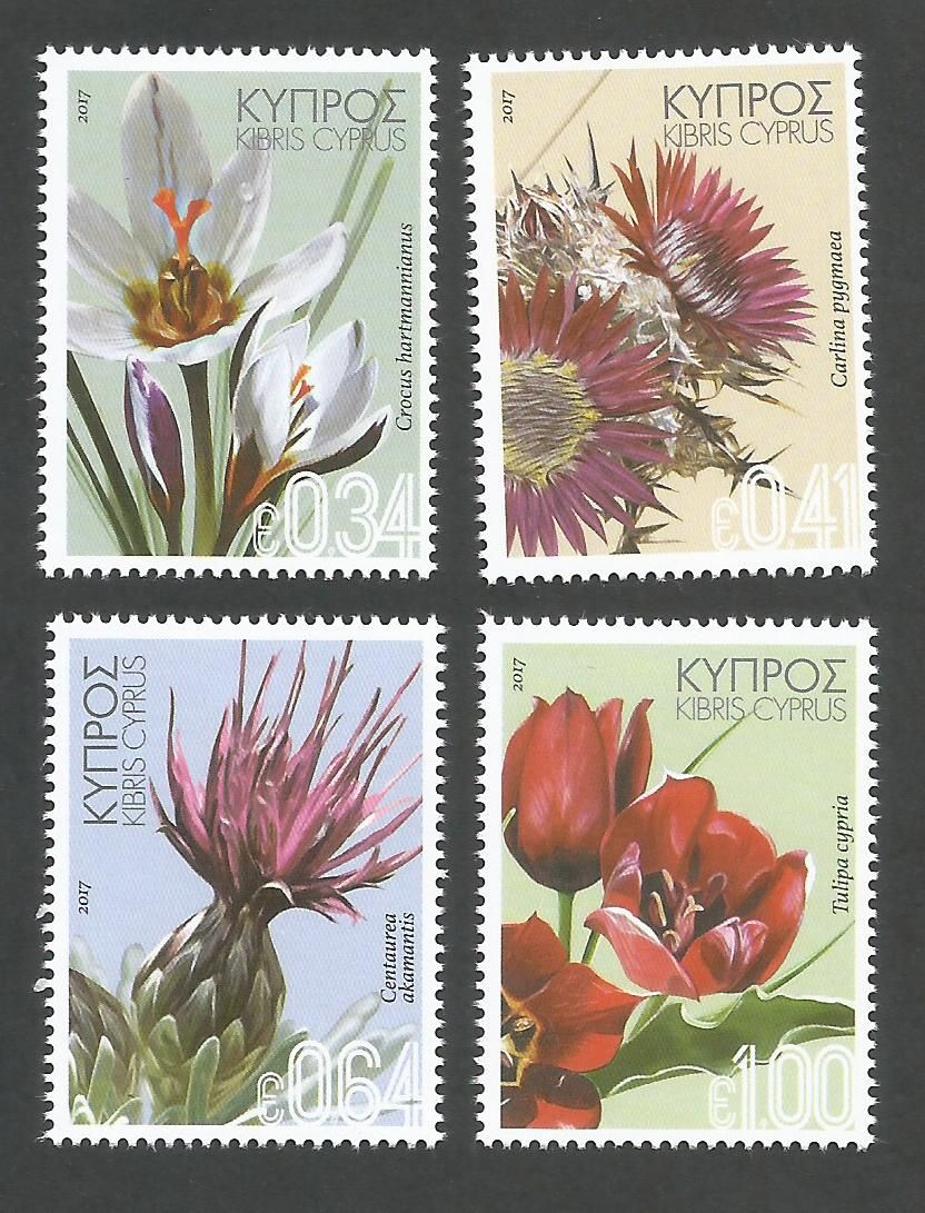 Cyprus Stamps SG 2017 (a) Wild Flowers - MINT