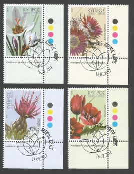 Cyprus Stamps SG 2017 (a) Wild Flowers - CTO USED (k473)