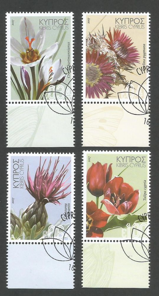 Cyprus Stamps SG 2017 (a) Wild Flowers - CTO USED (k474)