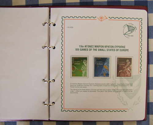 Cyprus stamps 2009 commemorative issues Deluxe Album 1