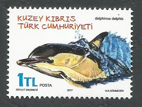 North Cyprus Stamps SG 2017 (a) Animals Dolphin Delphinus delphis - MINT