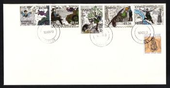 Cyprus Stamps SG 1307-11 2013 Spanos and the Forty Dragons Childrens stamp - Unofficial First day cover (h538)