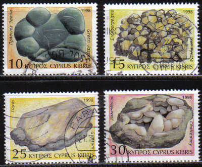 Cyprus Stamps SG 934-37 1998 Minerals - USED (d136)