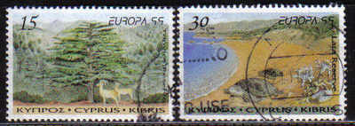 Cyprus Stamps SG 969-70 1999 Europa Parks and gardens - USED (d137)