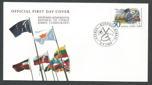 Cyprus Stamps SG 971 1999 Coucil of Europe - Official FDC
