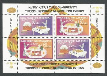 North Cyprus Stamps SG 0609 MS 2005 Europa Gastronomy - MINT
