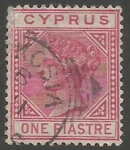 Cyprus Stamps SG 018 1883 One 1 Piastre - USED (k484)