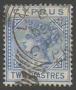 Cyprus Stamps SG 019 1883 Two Piastres - USED (k485)