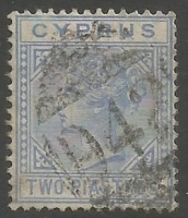 Cyprus Stamps SG 019 1883 Two Piastres - USED (k487)