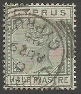 Cyprus Stamps SG 031 1892 Half Piastre - USED (k492)
