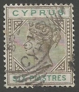 Cyprus Stamps SG 045 1896 Six 6 Piastres - USED (k495)