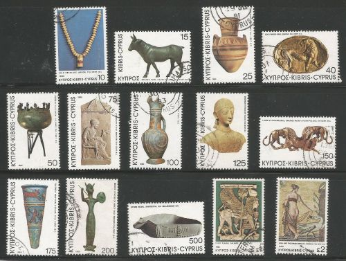 Cyprus Stamps SG 545-58 1980 Definitives Antiquities - USED (k510)