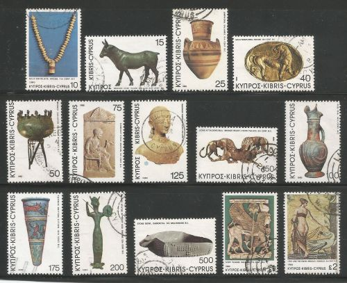 Cyprus Stamps SG 545-58 1980 Definitives Antiquities - USED (k502)
