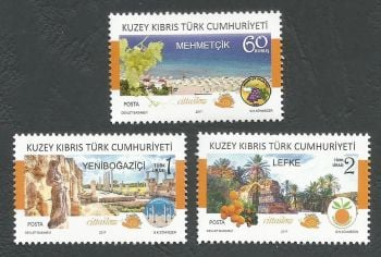 North Cyprus Stamps SG 2017 (b) Cittaslow Member Towns in Northern Cyprus - MINT