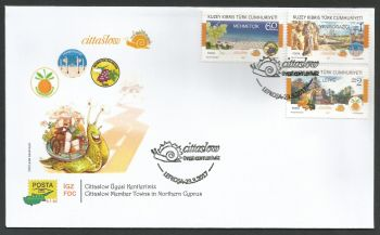 North Cyprus Stamps SG 2017 (b) Cittaslow Member Towns in Northern Cyprus - Official FDC