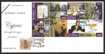 Cyprus Stamps SG 1225-32 2010 Cyprus Through The Ages Part 4 - Cachet Unofficial FDC (d142)