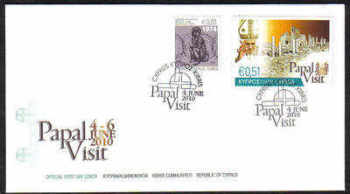 Cyprus Stamps SG 1221 2010 Pope Benedict XVI Visit to Cyprus - Unofficial FDC (c836)