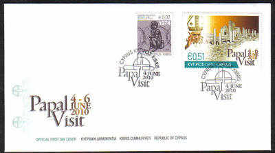 Cyprus Stamps SG 1221 2010 Pope Benedict XVI Visit to Cyprus - Unofficial F