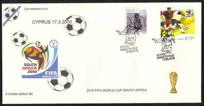 Cyprus Stamps SG 1218 2010 Fifa World Cup Football - Cachet Unofficial FDC