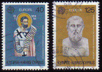 Cyprus Stamps SG 540-41 1980 Europa Personalities - USED (c605)