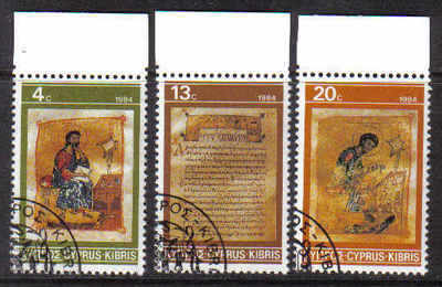 Cyprus Stamps SG 645-47 1984 Christmas - CTO USED (b500)