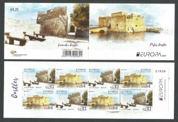 Cyprus Stamps SG 1420a-21a (SB25) 2017 Europa Castles - Booklet MINT