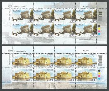 Cyprus Stamps SG 2017 (d) Europa Castles - Full sheets MINT