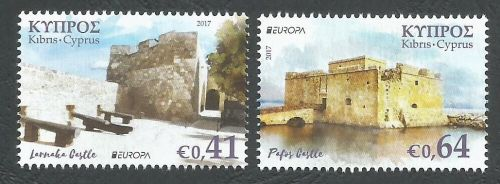 Cyprus Stamps SG 2017 (d) Europa Castles - MINT