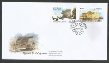 Cyprus Stamps SG 2017 (d) Europa Castles - Official FDC