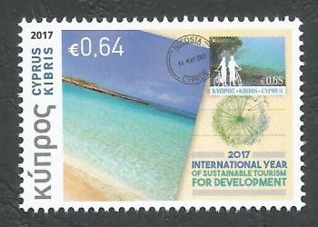 Cyprus Stamps SG 1422 2017 Philately and Tourism - MINT
