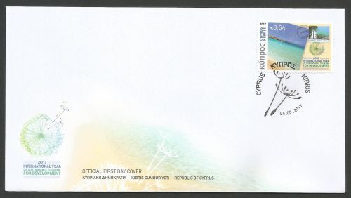 Cyprus Stamps SG 2017 (e) Philately and Tourism - Official FDC