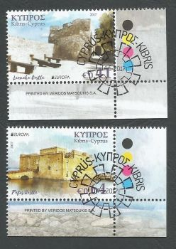 Cyprus Stamps SG 2017 (d) Europa Castles - CTO USED (k511)