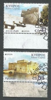 Cyprus Stamps SG 2017 (d) Europa Castles - CTO USED (k513)
