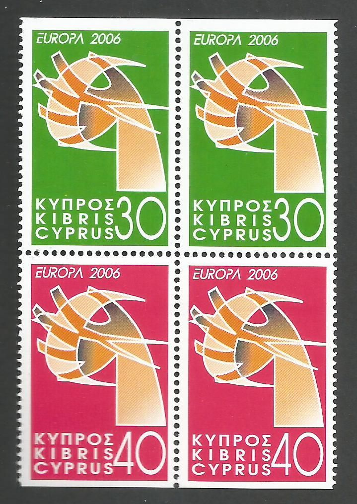 Cyprus Stamps SG 1110-11 2006 Europa Integration - Booklet pane MINT