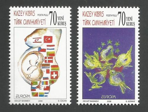 North Cyprus Stamps SG 0631-32 2006 Europa Intergration - MINT
