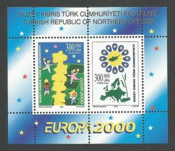 North Cyprus Stamps SG 0509 MS 2000 Europa - MINT
