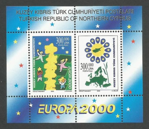 North Cyprus Stamps SG 509 MS 2000 Europa - MINT