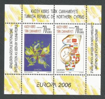 North Cyprus Stamps SG 0633 MS 2006 Europa Intergration - MINT
