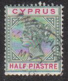 Cyprus Stamps SG 040 1896 Half Piastre - USED (d178)