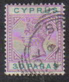 Cyprus Stamps SG 041 1896 30 Paras - USED (d177)