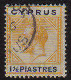 Cyprus Stamps SG 091 1922 One and Half Piastres - Used (c799)