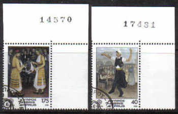 Cyprus Stamps SG 567-68 1981 Europa Folklore - USED (d191)