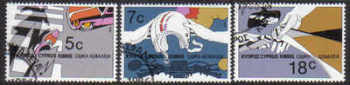 Cyprus Stamps SG 689-91 1986 Road Safety  - CTO USED (d163)