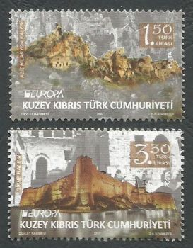 North Cyprus Stamps SG 2017 (c) Europa Castles Kyrenia and Saint Hilarion - MINT