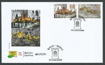 North Cyprus Stamps SG 2017 (c) Europa Castles Kyrenia and Saint Hilarion - Official FDC