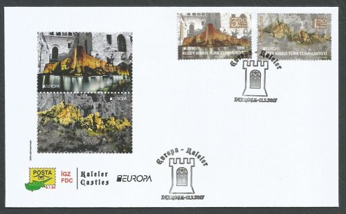 North Cyprus Stamps SG 2017 (c) Europa Castles Kyrenia and Saint Hilarion -