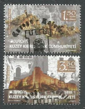North Cyprus Stamps SG 2017 (c) Europa Castles Kyrenia and Saint Hilarion - CTO USED (k511)