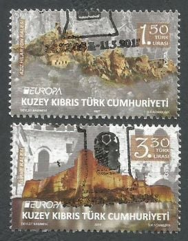 North Cyprus Stamps SG 2017 (c) Europa Castles Kyrenia and Saint Hilarion - CTO USED (k512)