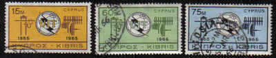 Cyprus Stamps SG 262-64 1965 ITU Centenary - USED (b195)