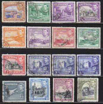 Cyprus Stamps SG 151-60 1938 KG VI Part set - USED (c219)